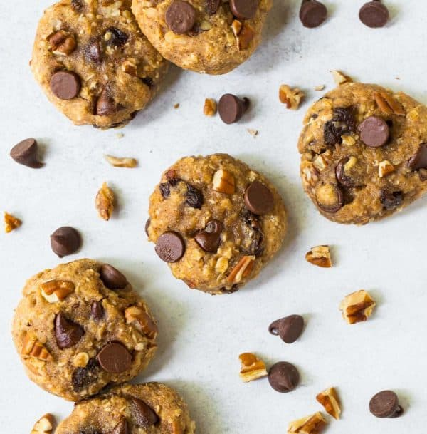 Simple and delicious cookies with chocolate chips, chopped nuts, and oats