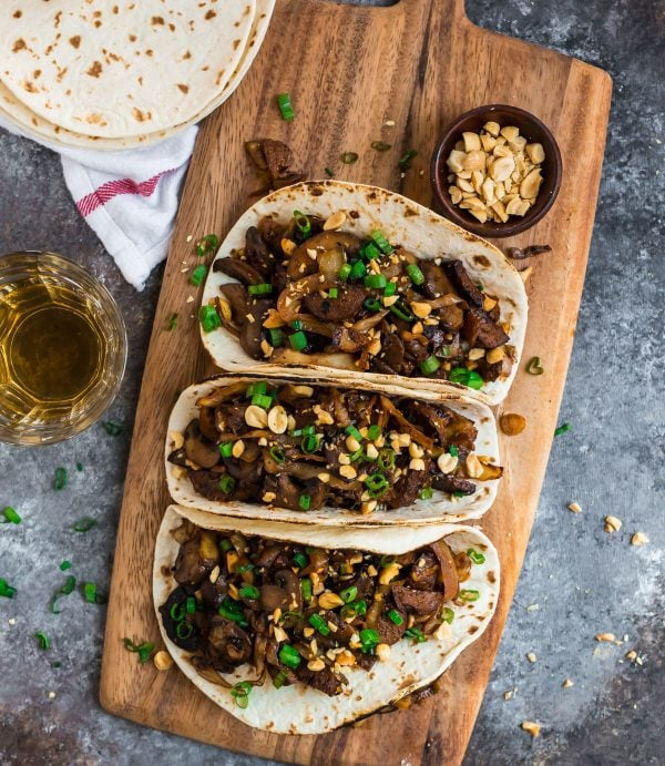 Mushroom Tacos. These healthy vegetarian tacos are a great vegan meal idea.