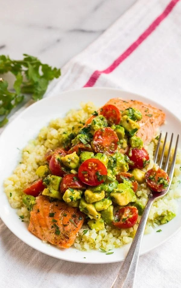 Baked Whole30 Salmon. An easy weeknight healthy dinner!