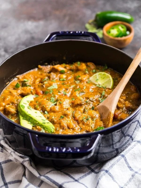 Healthy Green Chili. This pork green chili is flavorful and perfect for a family dinner.