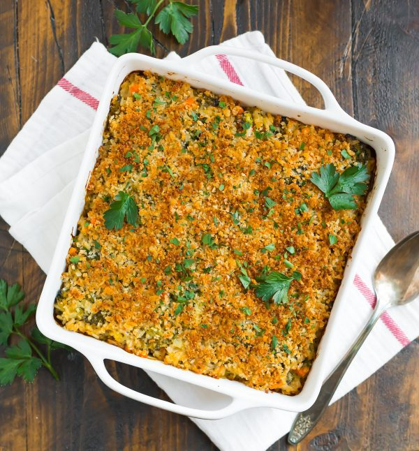 Healthy Broccoli Rice Casserole. Easy and lightened up. A classic family dinner or side dish.