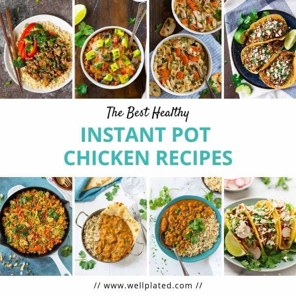 The most popular Healthy Instant Pot Chicken Recipes! List includes easy Mexican Instant Pot recipes, Indian recipes, soups, casseroles and more.