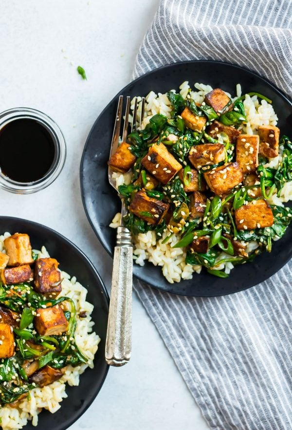 Easy Tofu Stir Fry. A quick vegan dinner that's easy to customize!
