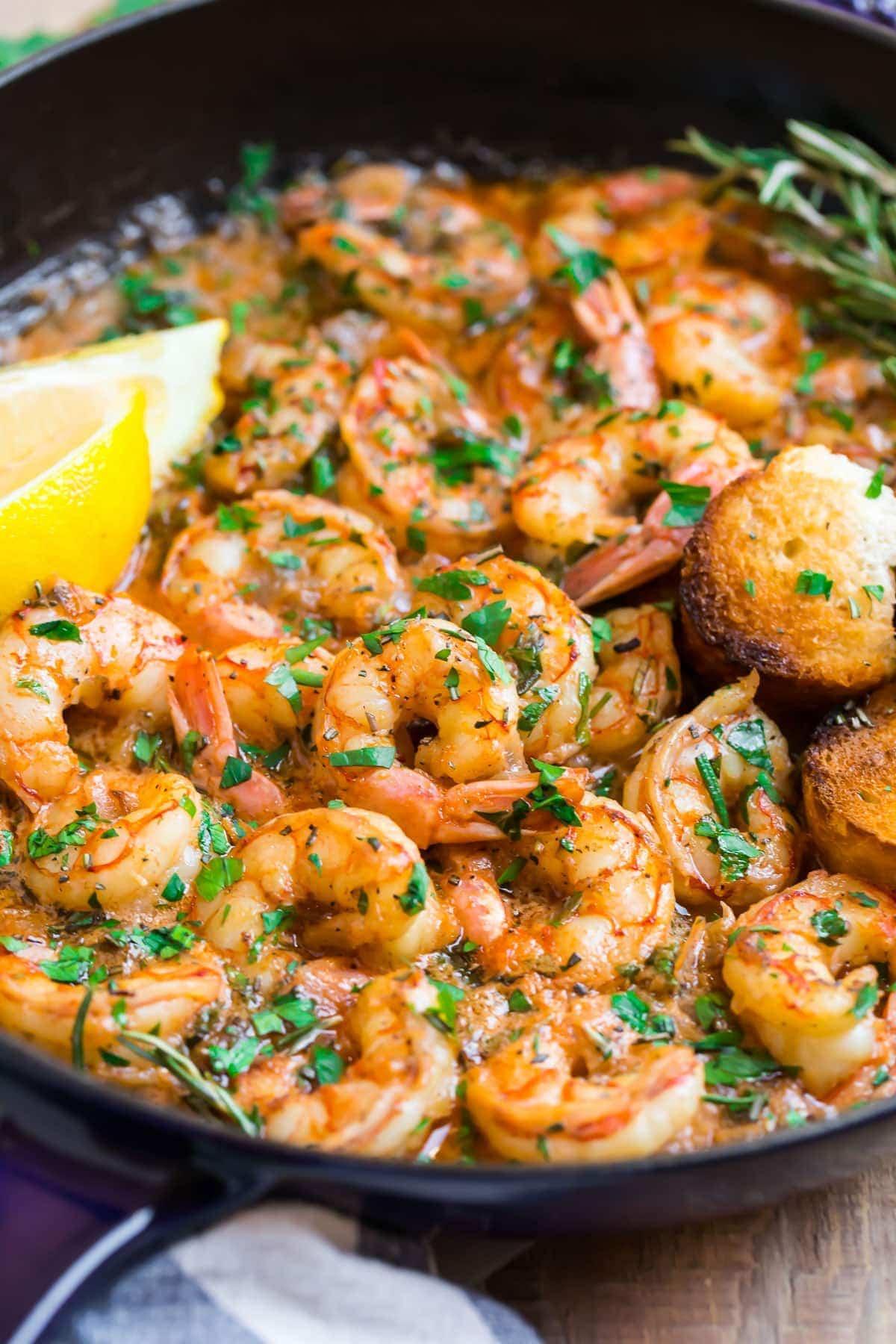 Garlic Butter Shrimp With Lemon Best Ever Recipe