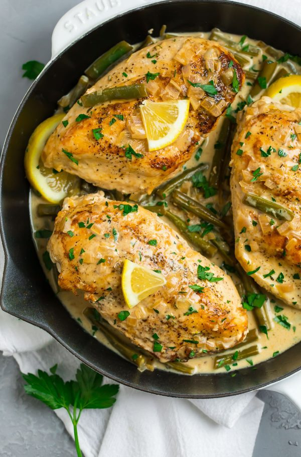 Lemon Butter Chicken in a creamy coconut milk sauce
