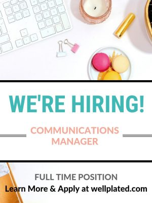 Hiring a full time position for a Communications Manager