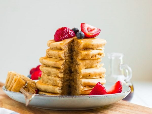 A stack of perfect Vegan Pancakes
