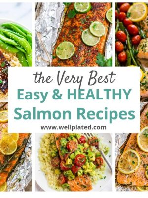 A group of easy and healthy salmon dishes