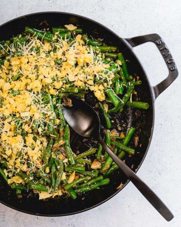 Favorite thanksgiving recipe of green bean casserole