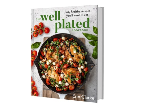 The Well Plated Cookbook cover in 3D
