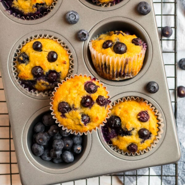 A muffin pan with tasty, healthy baked goods for snacks or breakfast