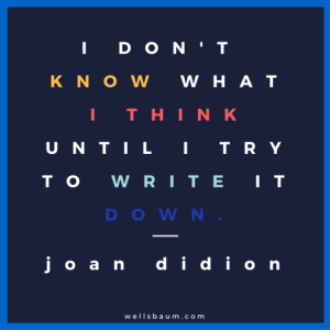 Joan Didion on writing to think
