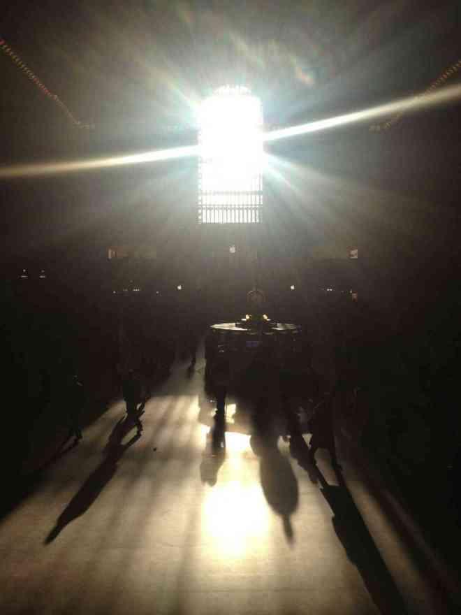 The sun peeks through Grand Central Station