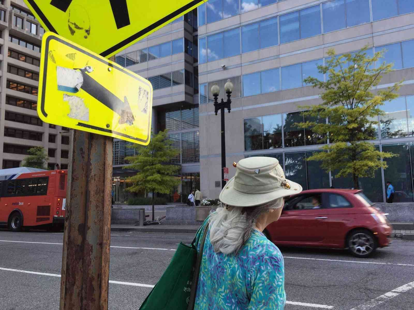 Pedestrians at the corner