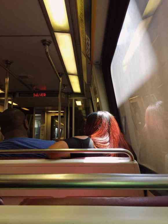 Basking in the train glow