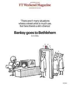 Banksy takes his art to Bethlehem