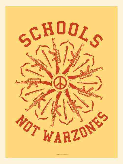 Artist Shepard Fairey supports National School Walkout Day with two protest posters