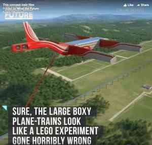 Meet the flying train, a hybrid train and plane