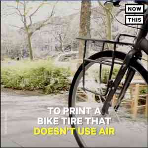 The world's first 3D printed airless bike tire