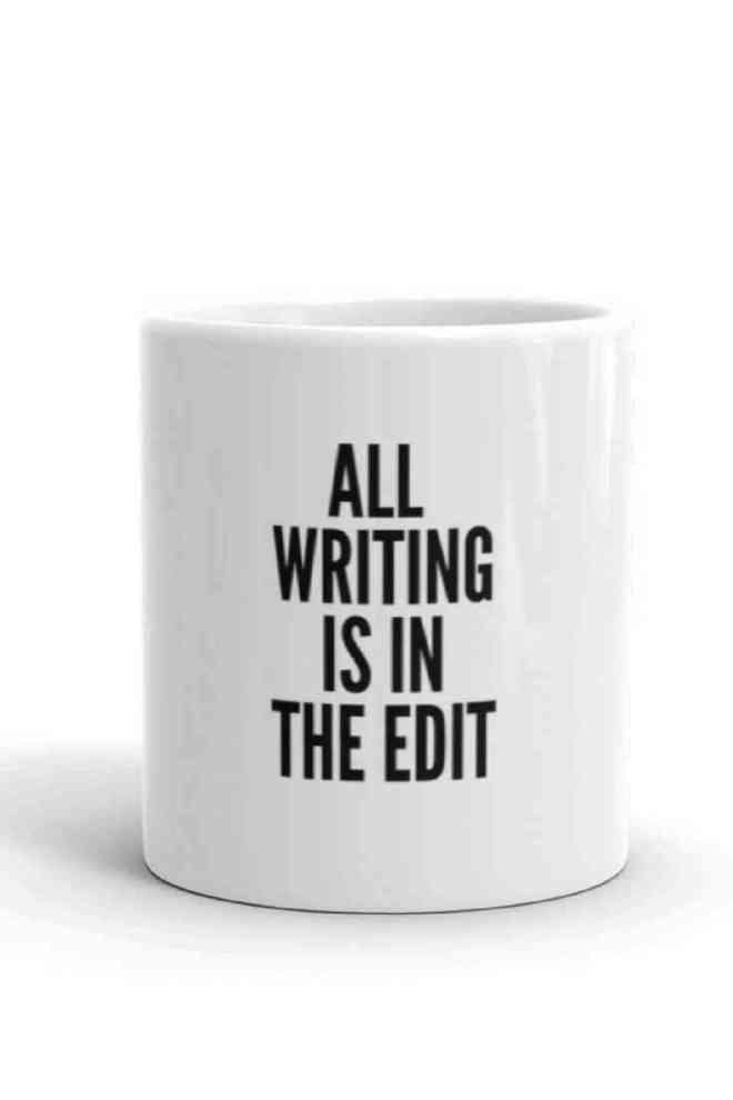 All writing is in the edit coffee mug