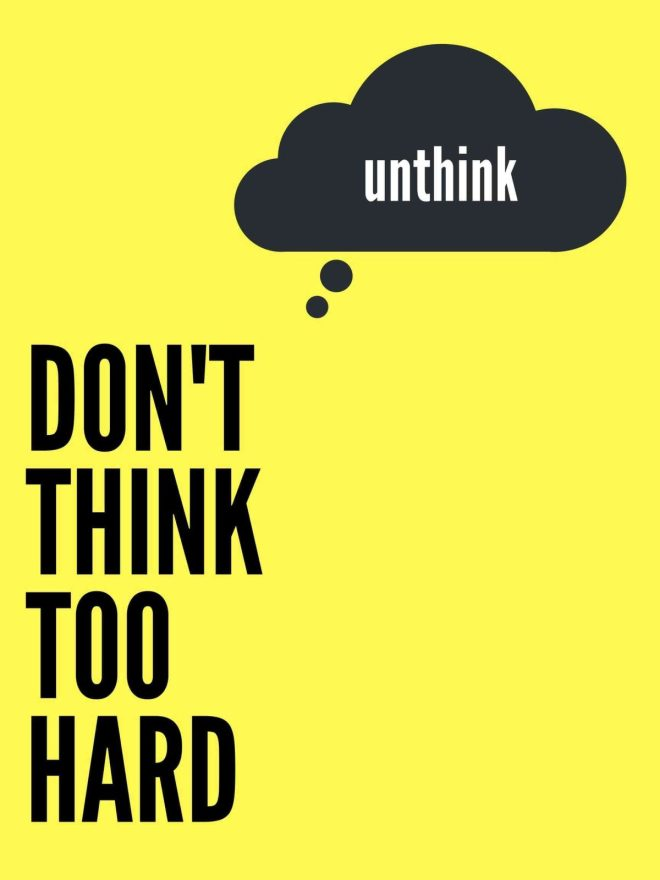 don't thin too hard poster