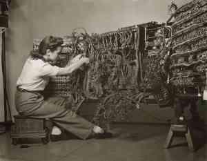 Wiring an IBM computer, 1958