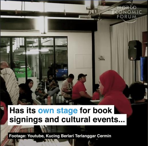 A giant bookshop that never shuts