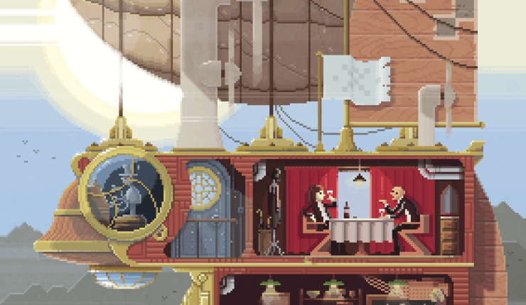 Pixel art paintings by Octavi Navarro