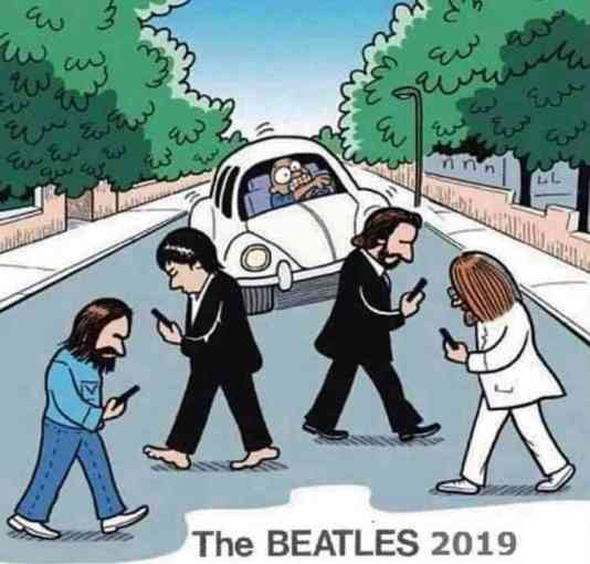 The Beatles never look up