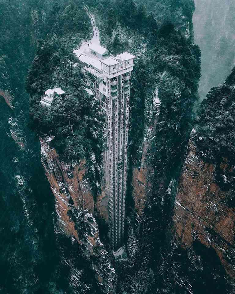 Bailong Elevator, the highest elevator in the world image
