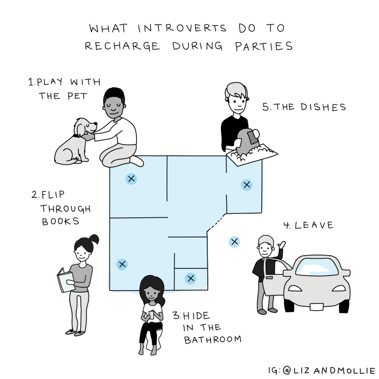 What introverts do at parties