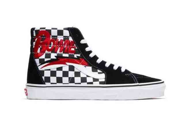 Vans honor David Bowie with sneakers designed after his album covers
