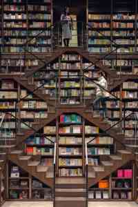 Mirrored Ceilings at Zhongshuge bookstores, China