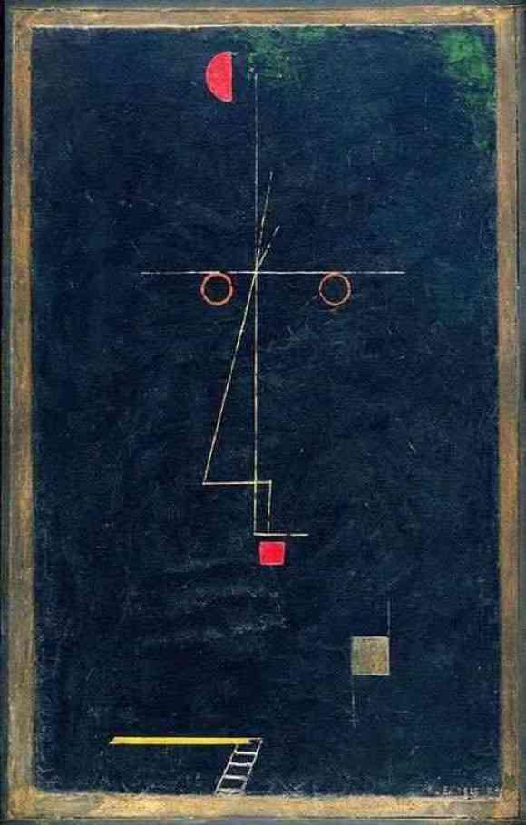 Portrait of an artist / Twittering Machine by Paul Klee