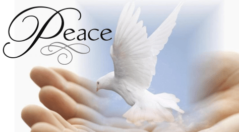 peace of God hands dove