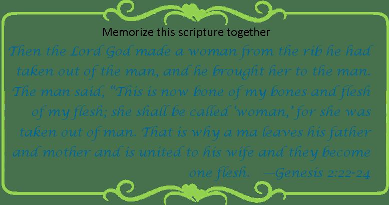 127 Memorize Genesis 2 22-24