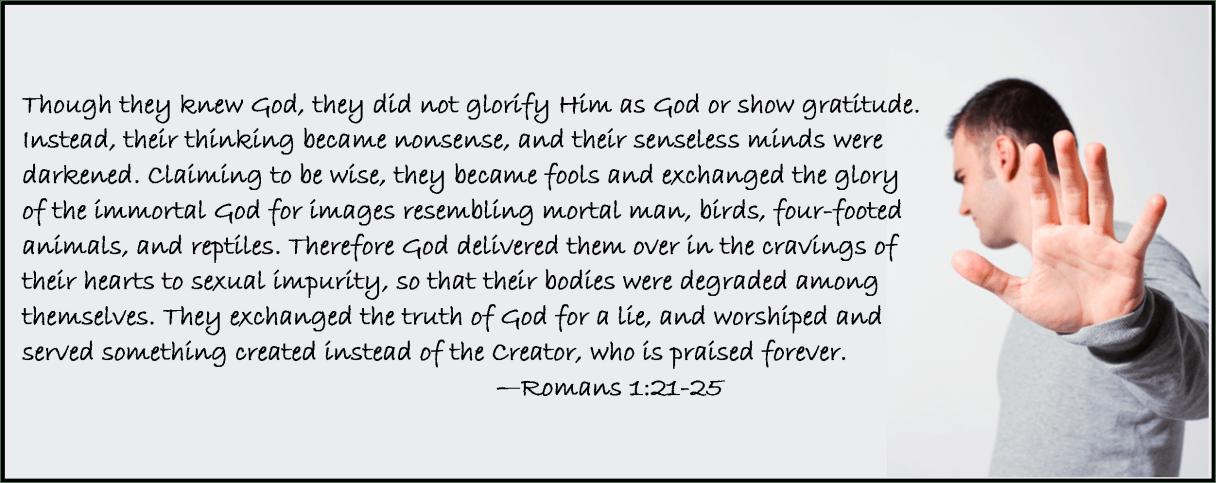 Romans 1 21-25