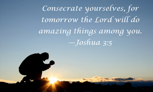 Joshua 3 5