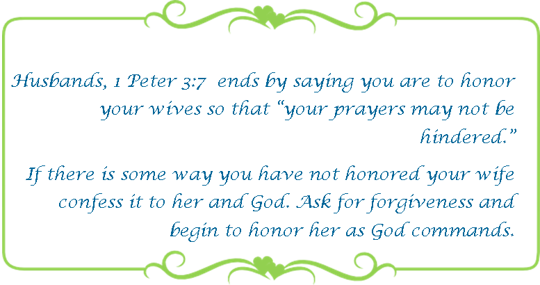 065 honor your wife 1 Peter 3 7