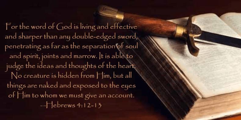 Hebrews 4 12-13
