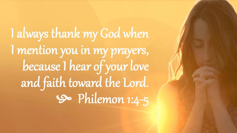 Philemon 1 4-5