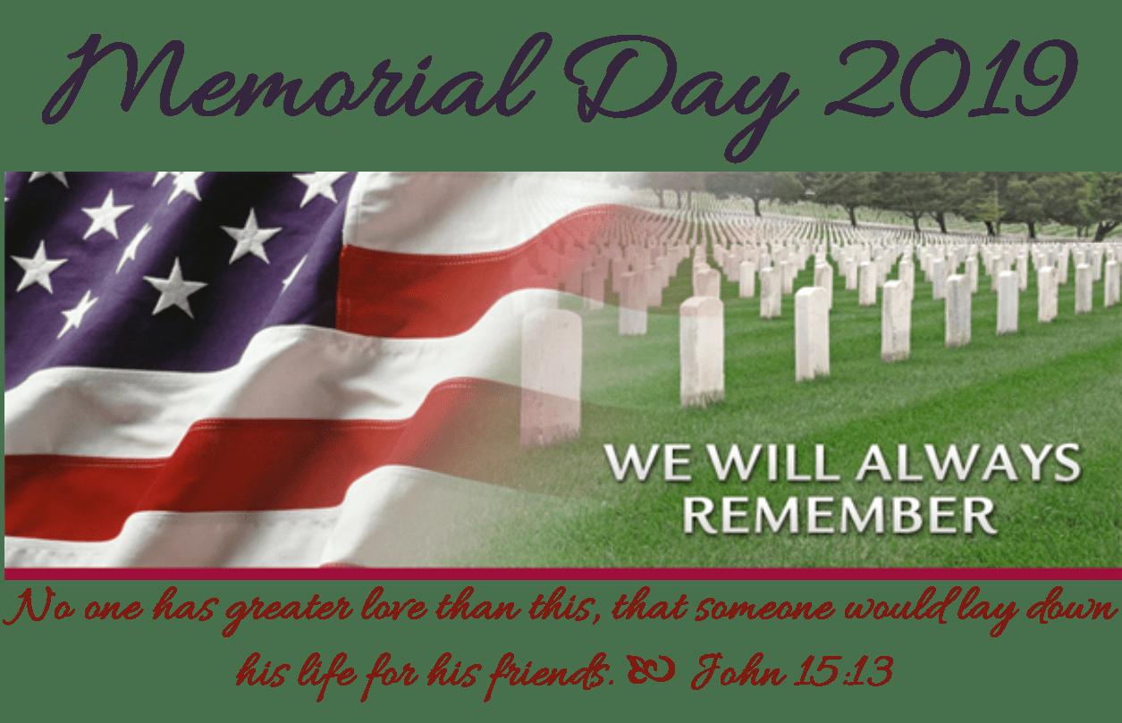 2019 Memorial day