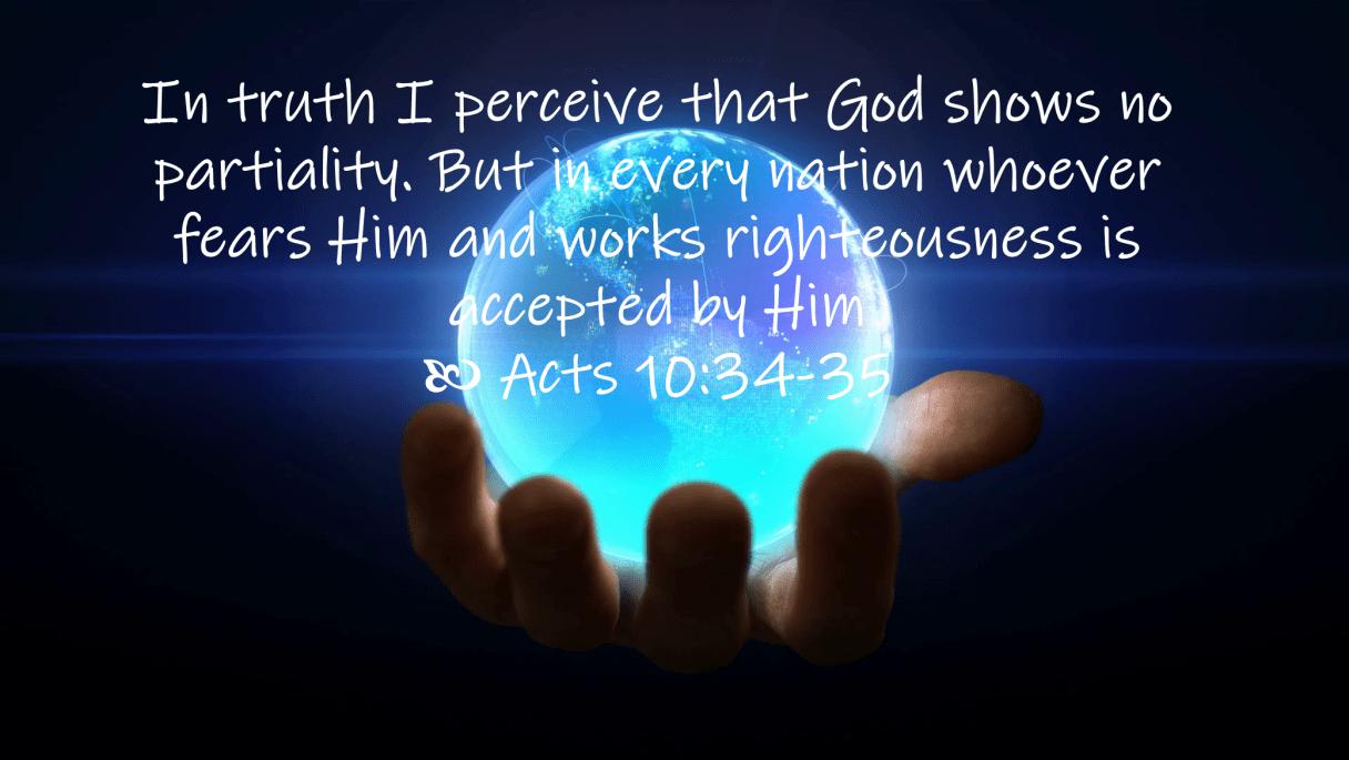 Jul 02 Acts 10 34-35