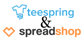spreadshop and teespring logos
