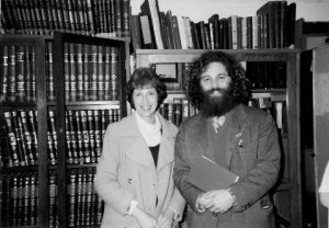 Betty Hilton and study partner at Pardes Institute, c. 1981