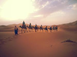 Caravan in Moroccan Sahara, Arielle Danan