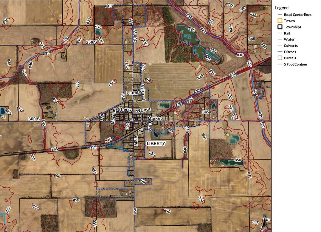 Liberty Center Project Area Map