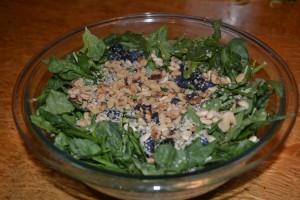 Spinach Walnut Blueberry Salad