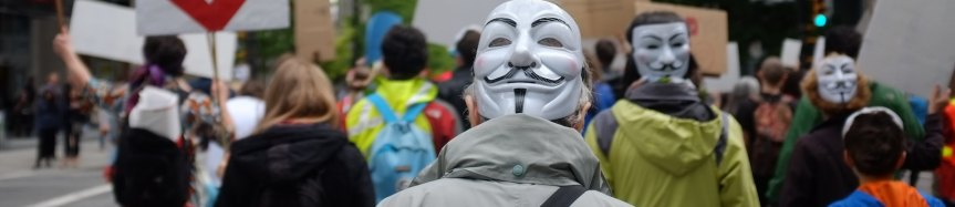 masks in a crowd - facial recognition