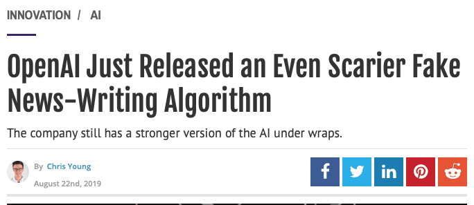 who can you trust - openai (AI) is too good at fake news